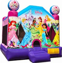 Disney Princess Bounce House The Fun Train Party Rentals