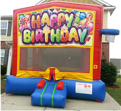 Happy Birthday Bounce House The Fun Train Party Rentals