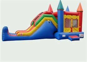 Bounce Castle and Slide Combo