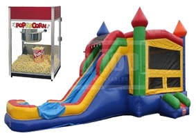 Castle with Pool and Popcorn Machine Combo