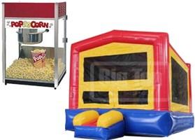 Super Fun Bouncer with Popcorn Machine Combo